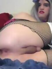 Tiny sissy dick worship. Submissive crossdressers sucking little penises of each other.